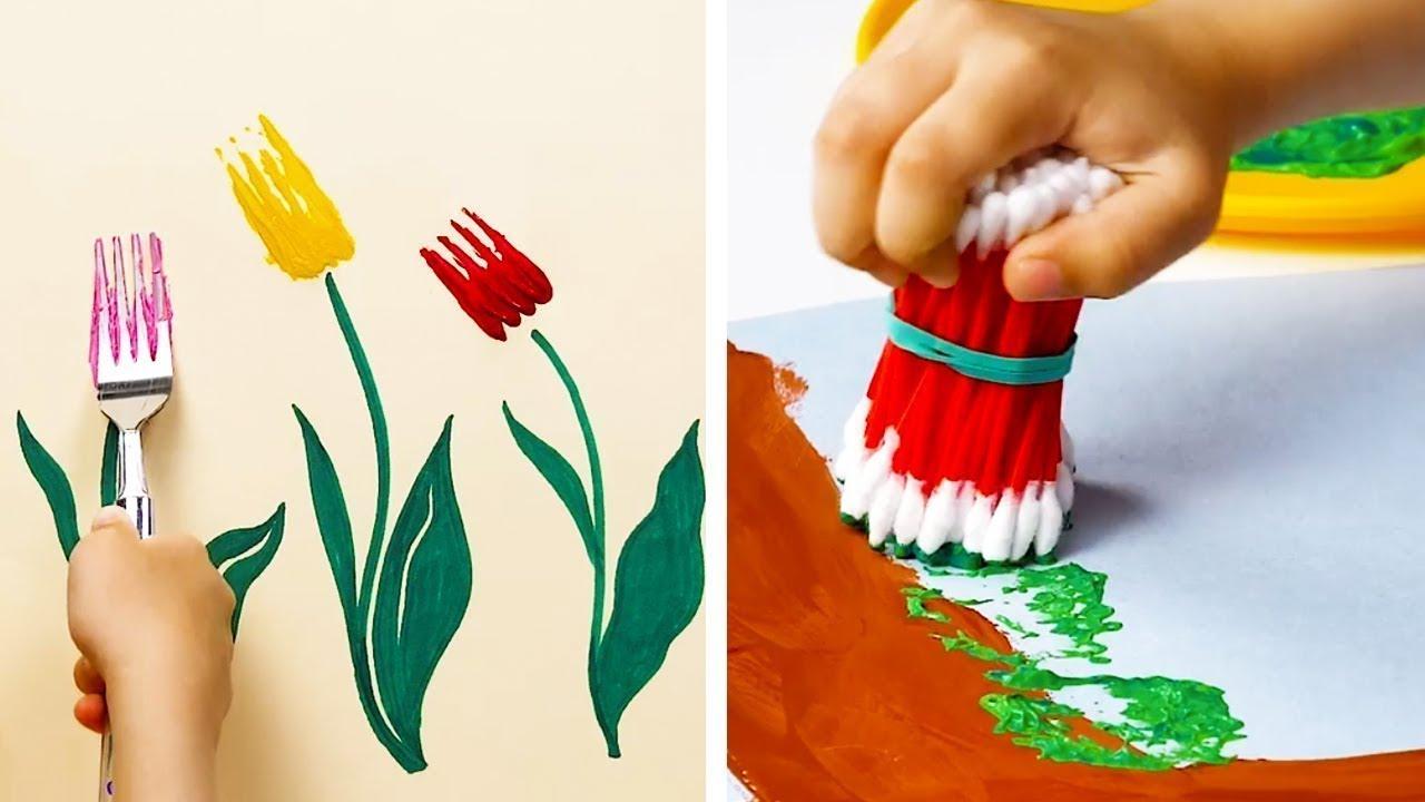 Необични начини за цртање кои треба да им ги покажете на дечињата