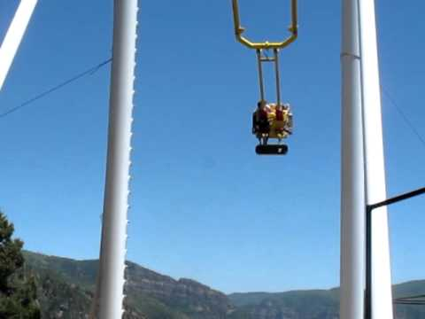 The giant swing ride over the Roaring Fork Valley at the Glenwood Caverns Adventure Park
