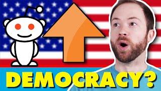 Do Upvotes Show Democracy