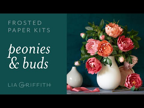 DIY Beautiful Peony with Frosted Paper: Easy to Use Paper Flower Kit for Beginners (full tutorial)