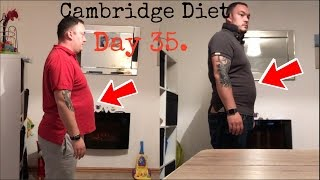 Cambridge Diet day 35 | side by side comparison of my weight loss so far!!!