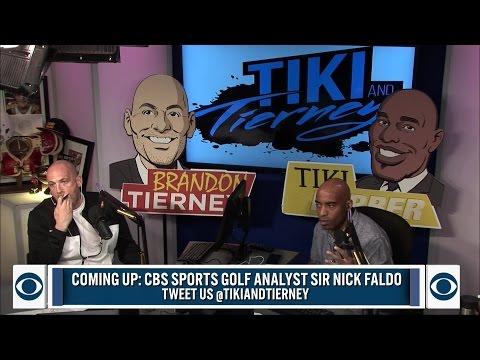 CBS Sports Golf Analyst Sir Nick Faldo joins BT and Tiki.