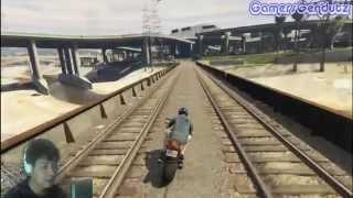 Ikuti kereta api! :D | GTA V Indonesia - part 7