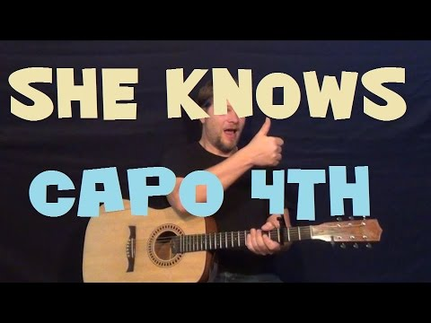 She Knows (J.Cole) Easy Strum Guitar Lesson How to Play Tutorial Capo 4th
