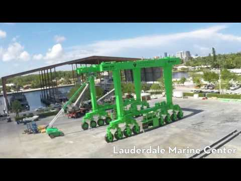 485 ton boat lift build - Lauderdale Marine Center