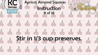 Apricot Almond Squares - Kitchen Cat