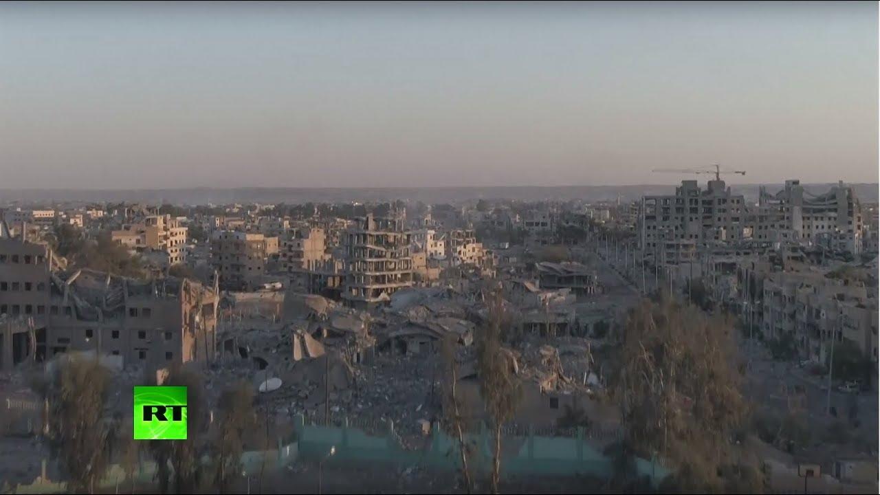 «Унаследовавшая судьбу Дрездена 1945-го»: кадры из разбомбленной коалицией США Ракки