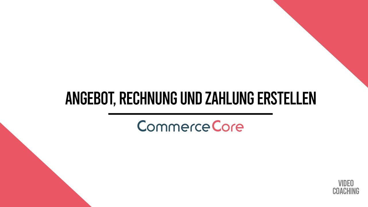 Odoo Commercecore Coaching Creating A Quotation Invoice Payment