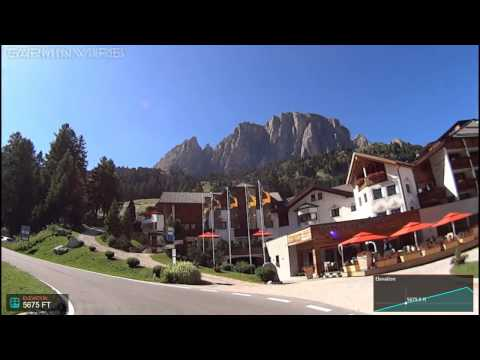 Passo Gardena -  Road bike over the beautiful Gardena Pass (