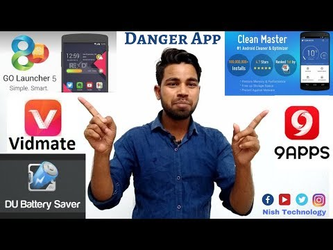 |Uninstall 5 Apps| Five Dangerous App in Android | Vidmate,Clean Master,9App,Launcher,Battery Saver.