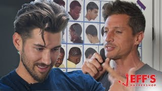 WHITE RAPPER FINDS OUT HES BLACK DURING INTERVIEW | Jeff's Barbershop - Simon Rex