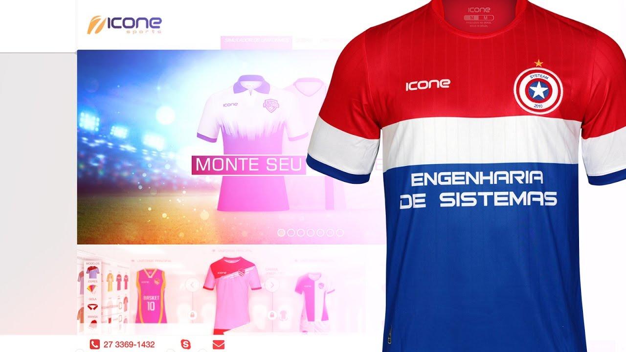 206c50933c O material do seu Jeito - Icone Sports - Uniforme Esportivo Personalizado