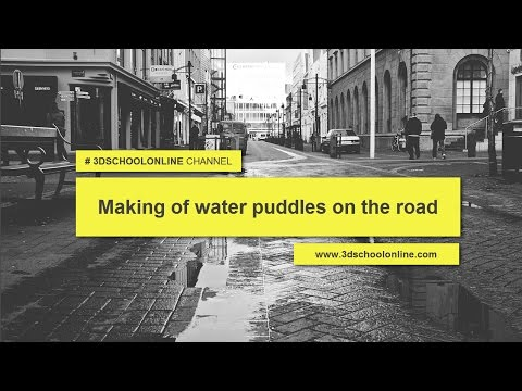 Making Of Water Puddles On The Road