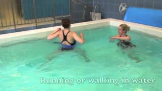 Running in Water Hydrotherapy Exercise