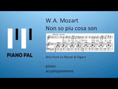 Non so piu cosa son W.A. Mozart KARAOKE/ACCOMPANIMENT by Pianopal mp3