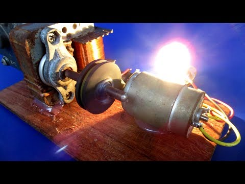 Handmade a power Free energy  generator 220V with DC motor - easy DIY at home