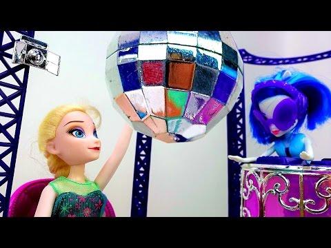 💃 #Эльза и Анна собираются на ДИСКОТЕКУ! #Куклы Холодное Сердце Видео #длядевочек Игры #одевалки