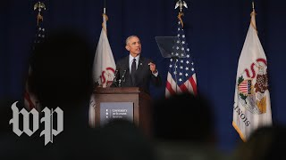 Obama's rallying cry for the midterms - and against Trump