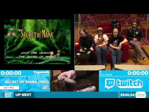 Secret of Mana by Yagamoth in 1:55:14 - Awesome Games Done Quick 2016 - Part 125