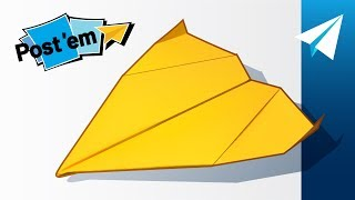 Easy Sticky Note Paper Airplane — How to Fold Maestro | Mini Paper Airplane