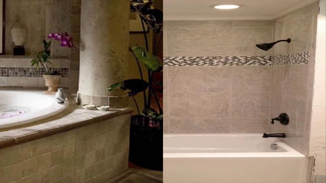 Bathroom Tile Ideas Around Bathtub bathroom tile ideas around tub - youtube