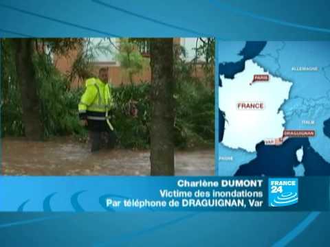 FRANCE - INONDATIONS: Avec une victime des inondations dans le Var