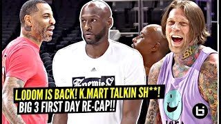 Lamar Odom IS BACK!! Kenyon Martin Talkin SH*T!! Retired NBA Pros Go 1 v 1 at Big 3!!