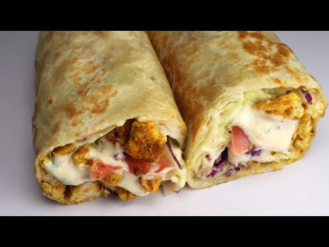 Chicken Wrap, Quick And Easy Recipe By Recipes of the World