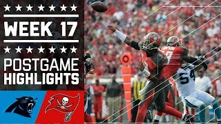 Panthers vs. Buccaneers | NFL Week 17 Game Highlights