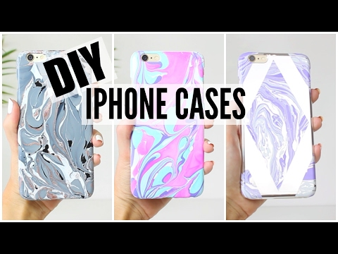 DIY iPhone Cases - WATERMARBLE edition!