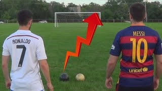 Cristiano Ronaldo vs Messi - Crossbar Challenge  In Real Life