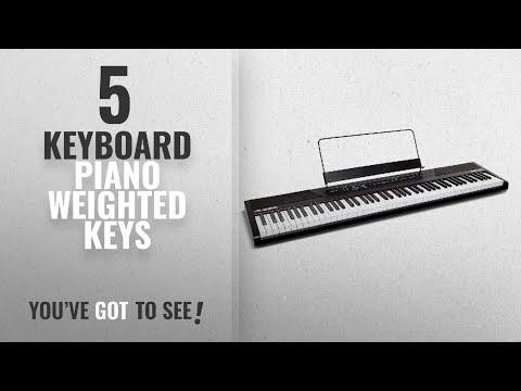 Top 10 Keyboard Piano Weighted Keys [2018]: Alesis Recital   88-Key Beginner Digital Piano with