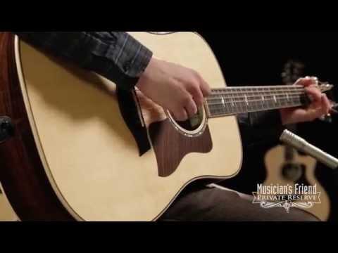 Taylor 810e Brazilian Rosewood Dreadnought Acoustic-Electric Guitar Natural