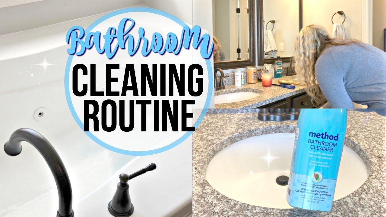 CLEAN WITH ME BATHROOM CLEANING ROUTINE YouTube - Bathroom cleaning services near me