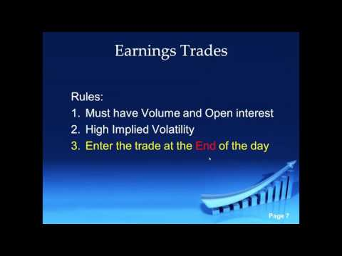A Great Strategy Using Options To Take Advantage of Earnings Seasons Part 2 With Er