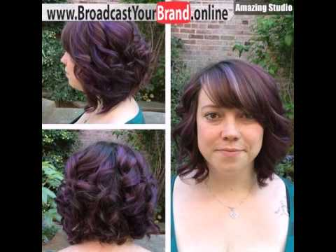 Dark Brown Hair With Purple Highlights And Bangs Youtube