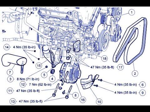 Ford Escape 30L Alternator Replace  Mazda Tribute 30L Alternator Replace 30L  YouTube