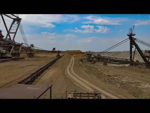 Giant Machines. The Work Walking Bucket Wheel Excavators . Роторные экскаваторы ЭРШР-5000 и ЭР-5250
