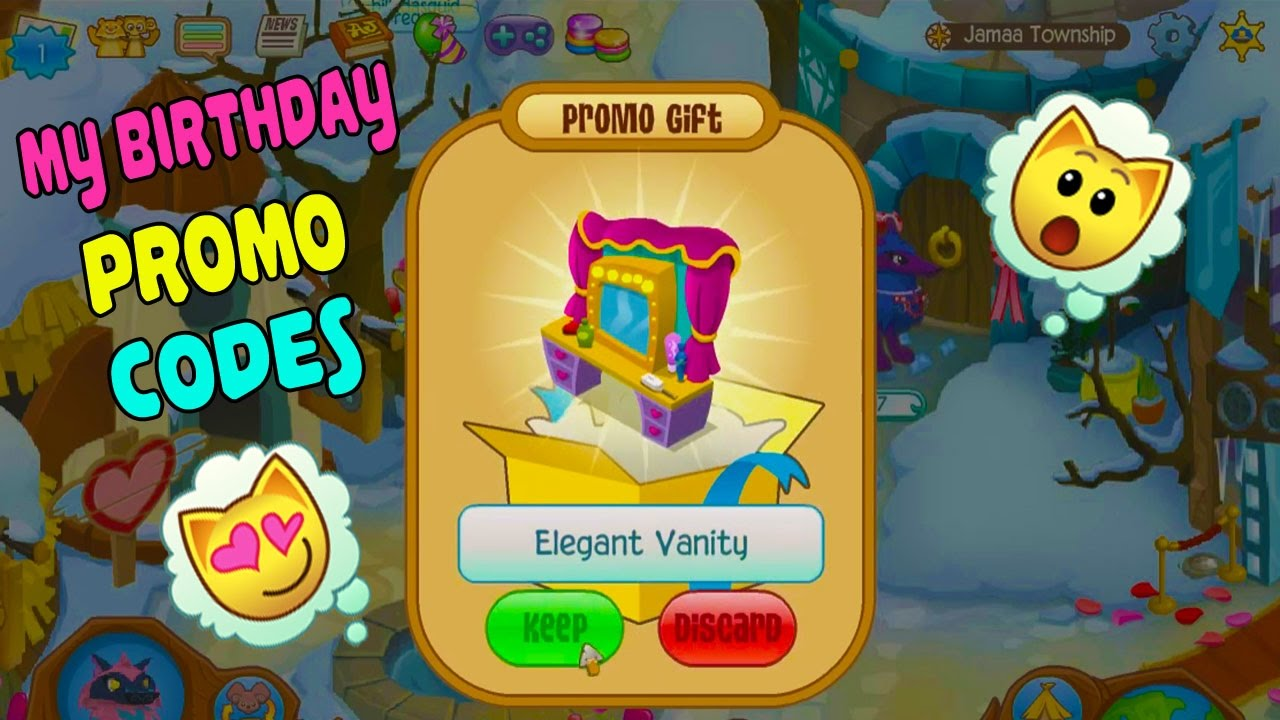 What I got for my Birthday - Animal Jam Codes Redeeming RARE ITEMS -  Birthday Codes and Promos