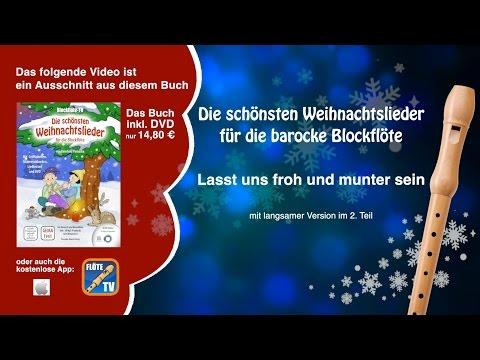♬-lasst-uns-froh-und-munter-sein-☆-barocke-blockflöte-☆-weihnachtslieder-☆