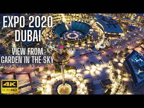 Expo 2020 Dubai (2021) Stunning Aerial 360-degree Views   Garden In The Sky full ride   4K