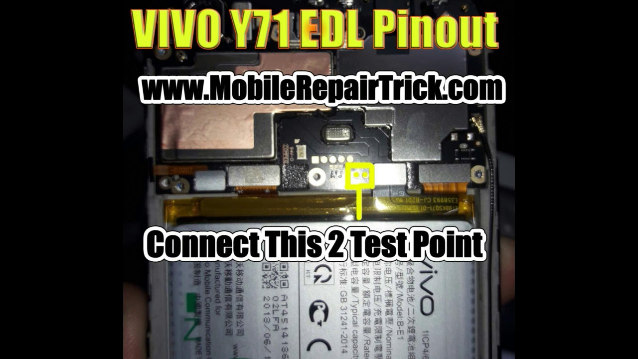 VIVO Y71 Edl Pinout |edl test point - www GsmClinic com