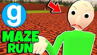 Brand New Angry Baldi's Basics in Education and Learning Maze Run With Friends #6 Gmod Sandbox