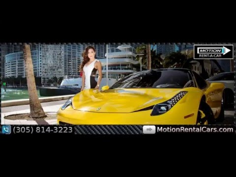 Miami Rent A Car Luxury Exotic Car Rentals | Motion Rent A Car Miami Airport MIA South Beach