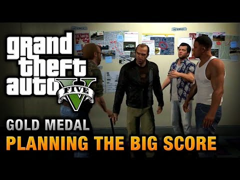 GTA 5 - Mission #76 - Planning the Big Score (Obvious) [100% Gold Medal Walkthrough]