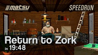 Speedrun: Return to Zork (Any%) - 19:48 (World Record as of 20 Dec 2017)