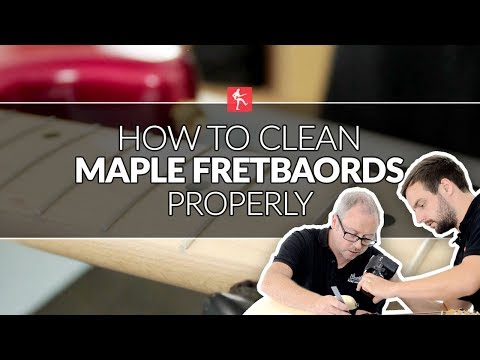 How To Clean Maple Fretboards - Guitar Maintenance Lesson