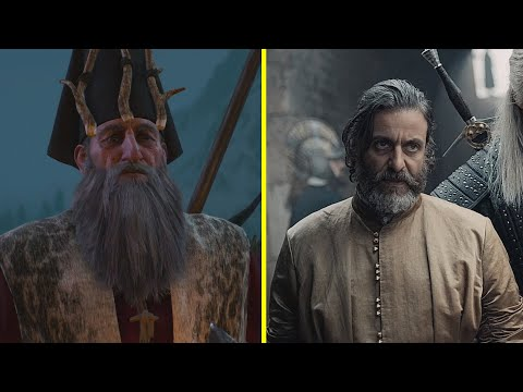 The Witcher - Books vs Game vs Netflix TV Series Characters Look Comparison