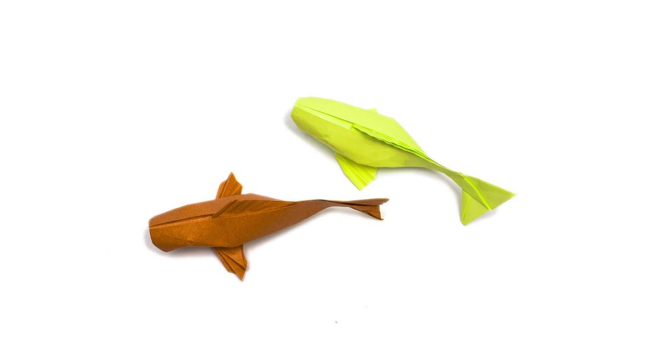 Origami koi fish youtube for Origami koi fish tutorial