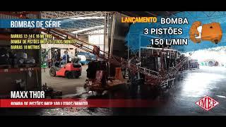 Pulverizador Agrícola 800 litros 18 metros de barras - Demonstração IMEP. Acionamento Hidráulico